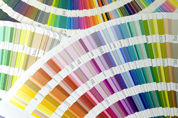 image of pantone color selection tools